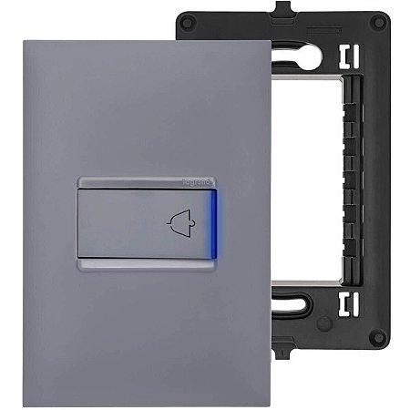 Interruptor de Campainha Pulsador Cinza Pial Plus+ Legrand