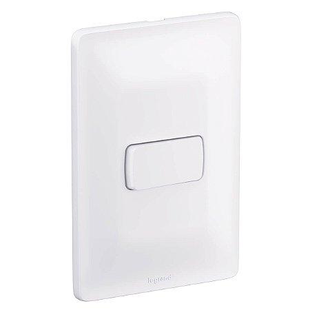 Interruptor Pial Zeffia 4x2 Com 1 Tecla Simples Com Suporte Placa