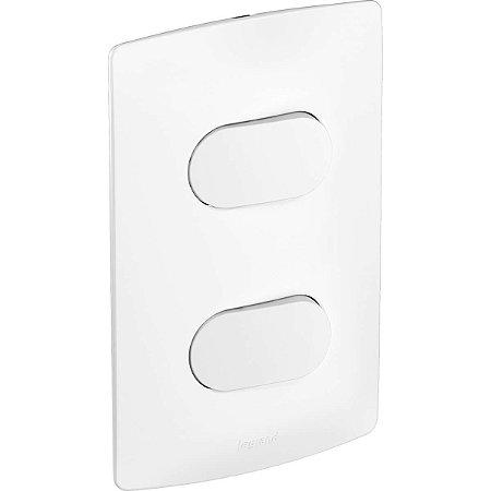 Interruptor Nereya 2 Teclas Duplo Branco Fosco 4x2 Pial Legrand
