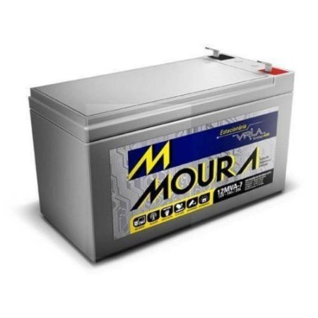 Bateria Selada para Alarme Nobreak Cerca Elétrica Moura 12V 7A
