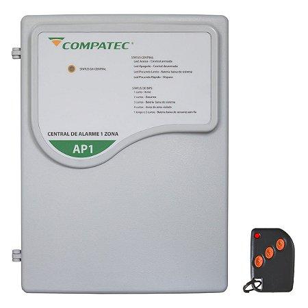 Central de Alarme Residencial 1 Setor Compatec AP1 + 1 Controle
