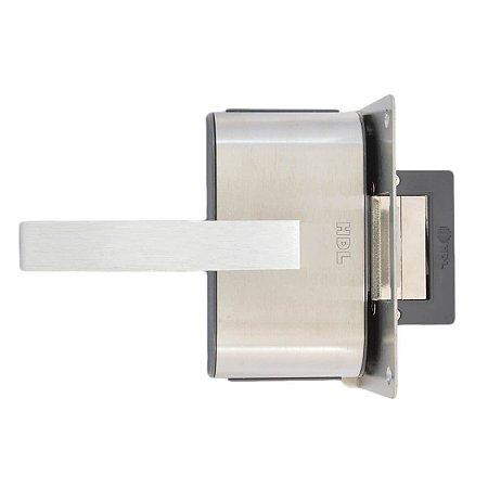 Fechadura Elétrica HDL PV90 1R-L Para Porta de Vidro com Puxador e Maçaneta (1 Folha)