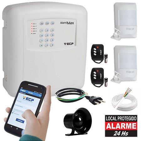 Kit Alarme Residencial Com Discadora GSM e 2 Sensores de Presença