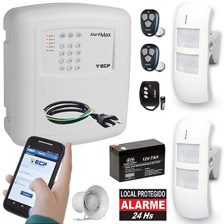 Kit Alarme Residencial Comercial Externo Com Discadora GSM 2 Sensores Duplos