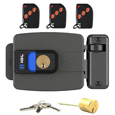Kit Fechadura HDL C90 com Botão + Acionamento Sem Fio com 3 Controles