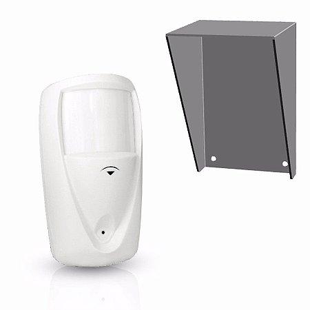 Sensor De Alarme Compatec IR45 Externo Com Protetor De Chuva