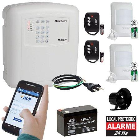 Kit Alarme Residencial ECP GSM Chip Celular Sem Fio 2 Sensores Wireless