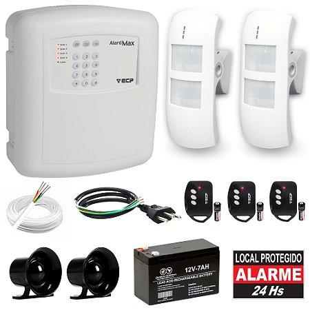 Kit Alarme Residencial Discadora 2 Sensores Infravermelho Externo Com Microondas IRK85 Compatec