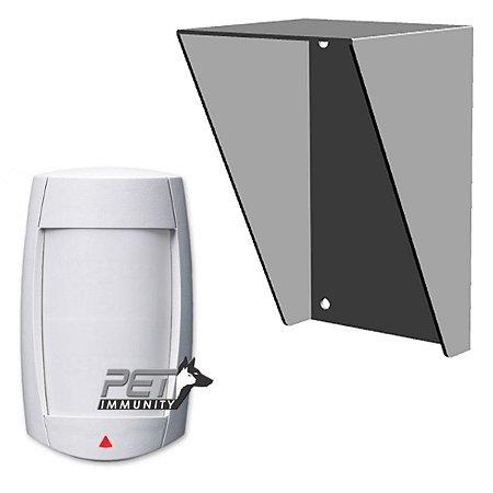 Sensor Alarme Paradox DG75 Externo Duplo  Com Protetor Chuva