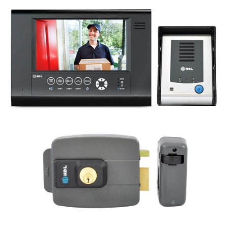 Kit Vídeo Porteiro HDL Sense Seven S Com Fechadura Elétrica C90