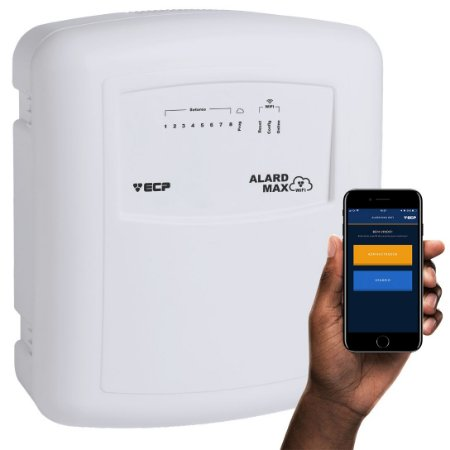 Central de Alarme ECP Alard Max Wifi com Internet Wireless + App iOS e Android