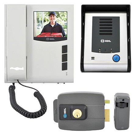 Interfone Com Câmera e Fechadura Elétrica HDL Sense Classic + C90
