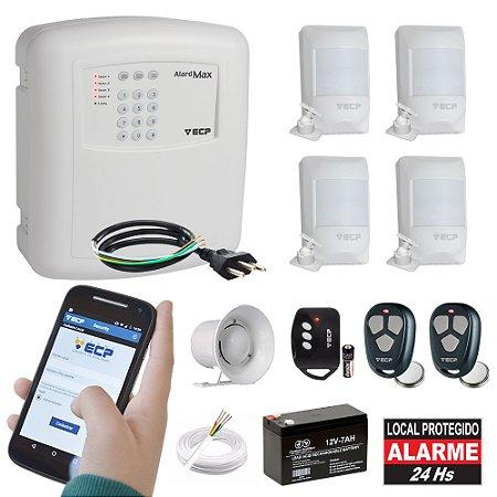 Alarme Residencial Comercial Com Discadora GSM 4 Sensores de Presença Completo
