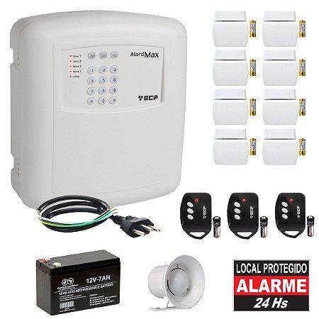 Alarme Casa Comercial Com Discadora 8 Sensores Abertura Sem Fio