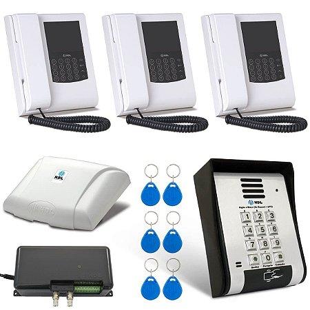 Vídeo Porteiro HDL 3 Pontos Com Telefone Leitor de Cartão Tag RFID F12SVCA