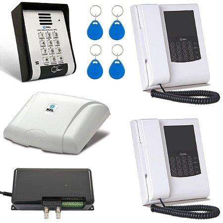 Vídeo Porteiro HDL 2 Pontos Com Telefone Leitor de Cartão Tag RFID F12SVCA