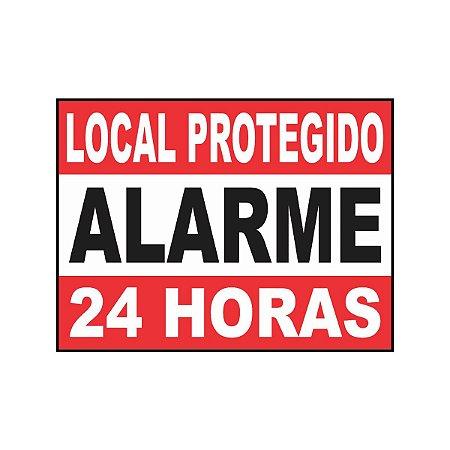 Placa Indicativa Local Protegido Alarme 24h
