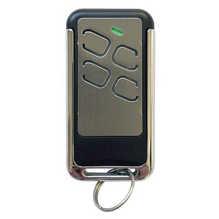 Controle Remoto 433MHz Portão Alarme 4 Botões Cromado Bateria Lítio Longa Duração