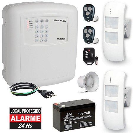 Alarme Residencial Externo Com 2 Sensores de Presença Infravermelho Duplo PET IRK65 Compatec