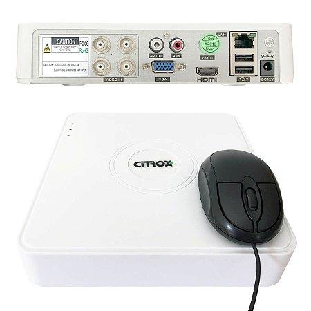 DVR 4 Canais Full HD Citrox CX-2704 Detecção Facial H.265