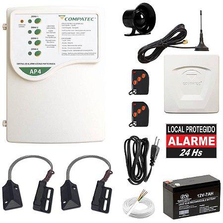 Alarme de Segurança Comercial P/ Porta de Ferro Com Discadora GSM