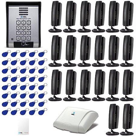 Interfone 20 Pontos HDL Porteiro Coletivo Predial Controle Acesso
