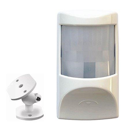 Sensor de Infravermelho Alarme PET Com Fio Compatec IR5 + Suporte
