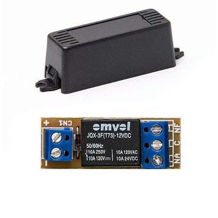 Placa Relé 12V PGM Automação Alarme NA NF Com Caixa Plástica