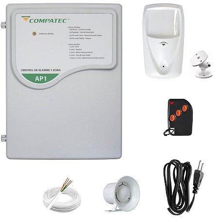 Alarme Residencial Com Fio Sensor Infra PET Semi-Externo Compatec