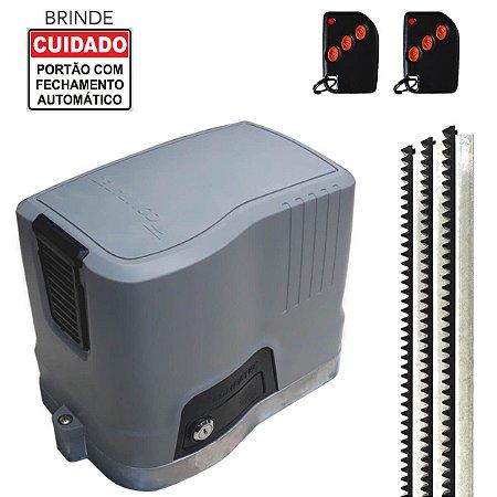 Motor Portão Eletrônico Rápido 1/3HP 3m Cremalheira Compatec D500