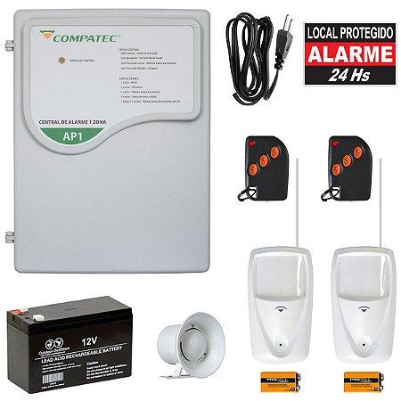 Kit Alarme Residencial Sem Fio Compatec Com 2 Sensores PET IR30