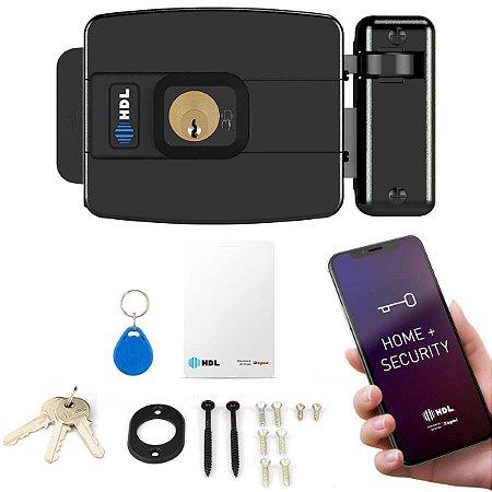 Fechadura Elétrica HDL C-90 Control App Bluetooth Tag Cartão RFID