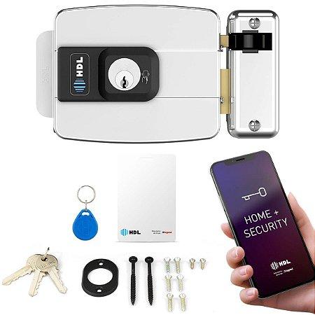 Fechadura Elétrica Com Tag para Portão HDL C90 Inox RFID + App