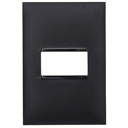 Espelho Pial Plus+ Placa 1 Posto 4x2 Legrand Preto 618501PT