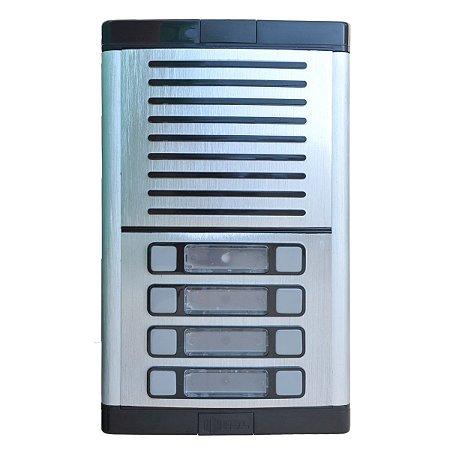 Interfone Coletivo 8 Pontos HDL Unidade Externa para Condomínio