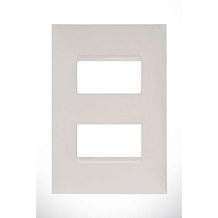 Placa 4x2 2 Postos Separados Pial Plus+ Legrand Branca 618506BC