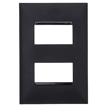 Placa 4x2 2 Postos Separados Pial Plus+ Legrand Preta 618506PT