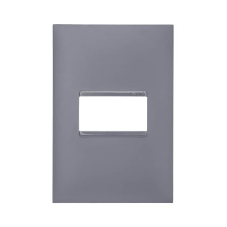 Placa 4x2 1 Posto Pial Plus+ Legrand Cinza 618501CZ