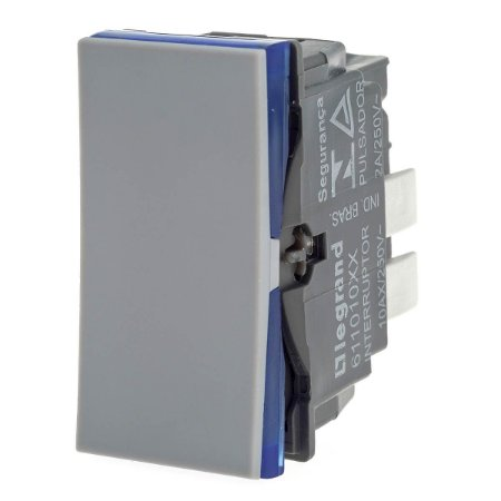 Interruptor Simples Cinza Borne Auto. Pial Plus+ Legrand 611010CZ