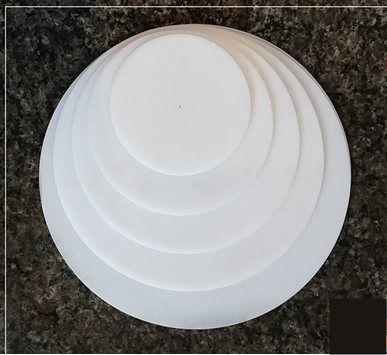 Disco De Polietileno Para Quinar Bolo Ganache Kit 6 Discos