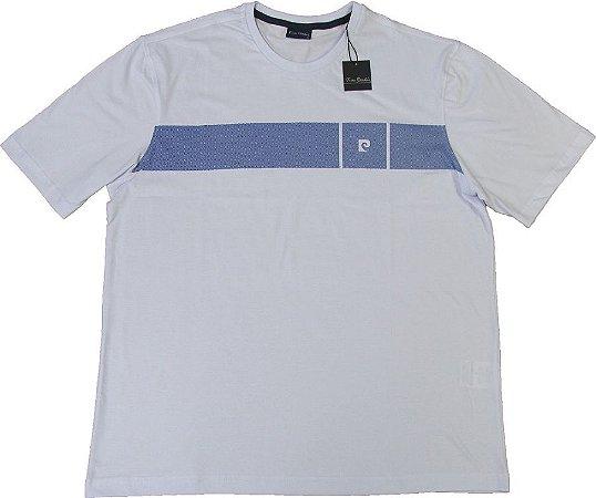 5bdce2bd1e868 Camiseta Gola Careca Pierre Cardin - 100% Algodão - Ref. 42030