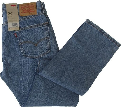 Calça Jeans Levis Masculina Corte Tradicional - Ref. 505-4834 - 100% Algodão dccbb248291