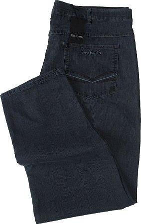 4b5f1b9a3 Calça Jeans Masculina Pierre Cardin Reta (Cintura Alta) - Ref. 487P886 PLUS  SiZE