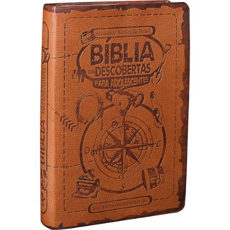 Bíblia Das Descobertas Para Adolescentes Ntlh Luxo Marrom