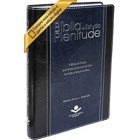 Bíblia De Estudo Plenitude Com Índice Revista e Atualizada