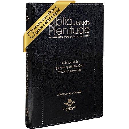 Bíblia De Estudo Plenitude Com Índice Revista e Corrigida preta