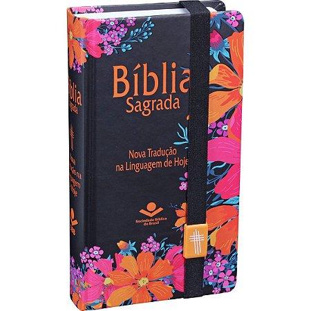 Bíblia tipo carteira linguagem de hoje com elastico