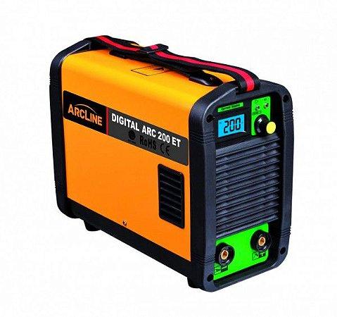 Máquina Inversora para solda 200 Amperes Digital Arc 200ET - Arcline