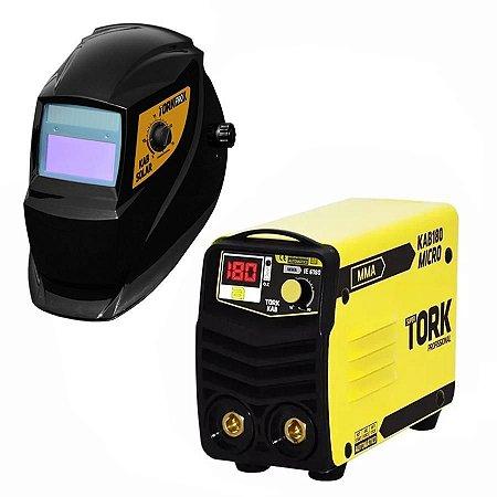 Inversora para Solda Micro 180 Amperes + Máscara Automática