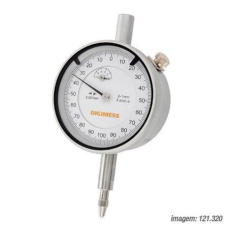 Relógio Comparador 0-100 Milesimal Graduação de 0,001mm - Digimess